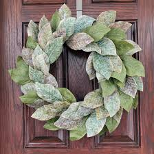 magnolia wreath tiny house vintage and
