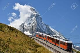 treno cremagliera il gornergratbahn 礙 a 9 km di lunghezza scartamento montagna