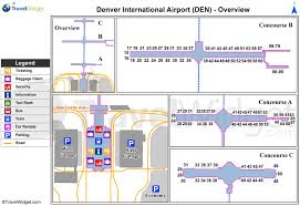 Airport Map Denver International Airport Map Denver International Airport