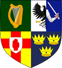 Irish Republican Army Flag The Emblem Of The Provinces Of Ireland Leinster Connacht Ulster