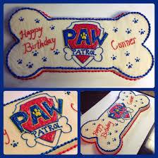 bone shaped paw patrol cake cakes cupcakes