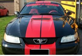1999 Black Mustang The Decal Shoppe High Performance Muscle Car Stripes Ezinstall