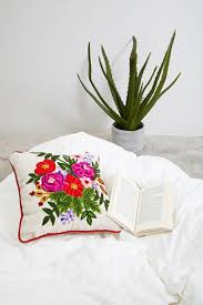 forever 21 karma living floral pillow cheap home decor online