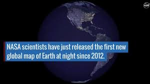 World At Night Map New Nighttime Look At Earth Reveals Human Activity Youtube