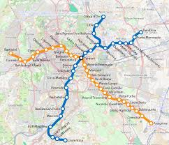 Rome Metro Map How To Reach Us
