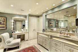 Bathroom Can Lights Master Bathroom Iluminated With Recessed Lights And Vanity Bar