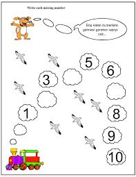 missing number worksheet for kids 1 10 crafts and worksheets