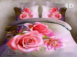 3d bedding set rose flower oil painting duvet cover sabanans ropa