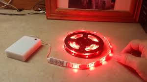 supernight battery powered rgb led light strip youtube