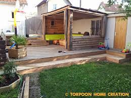 modele de terrasse couverte torpoon home creation terrasse en palettes et salon d u0027été