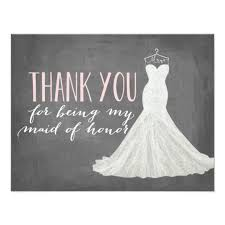 thank you bridesmaid cards of honor thank you bridesmaid card zazzle