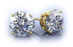 diamond stud earings diamond studs diamond stud earring in gold and platinum