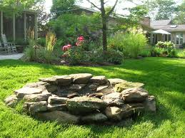 Rustic Firepit Outdoor Pits Rustic Landscape Chicago By The Barn