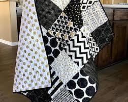 Black And White Crib Bedding For Boys Black And White Baby Bedding Gold Baby Bedding Black White