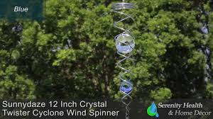12 Inch Glass Gazing Balls Sunnydaze 12 Inch Crystal Twister Cyclone Wind Spinner Youtube