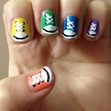 shoes themed nail art