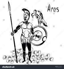 god war ares mars spear shield stock vector 541420078 shutterstock