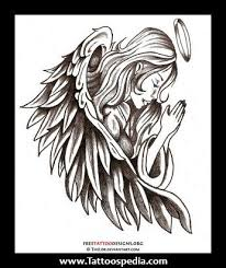 simple guardian angel drawing guardian angel tattoo art