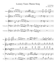 Looney Tunes Theme Song Musescore