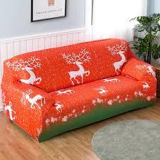 tissu pour canapé pas cher de noël stretch housse de canapé tissu cas pour plaid canapé meubles