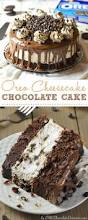 How To Decorate Chocolate Cake At Home Oreo Cheesecake Chocolate Cake Omg Chocolate Desserts