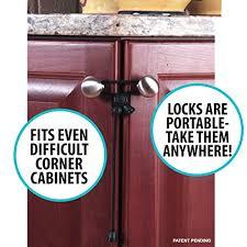 Kitchen Cabinets Locks Kiscords Baby Safety Cabinet Locks For Knobs Child Safety Cabinet