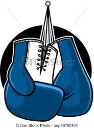 vector clipart of boxing gloves blue boxing gloves vector