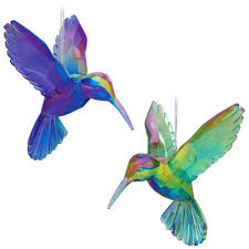 acrylic hummingbird ornaments set of 2 bronner s