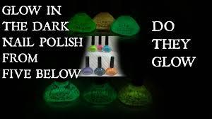 glow in the dark nail polishes from five below funky fingers