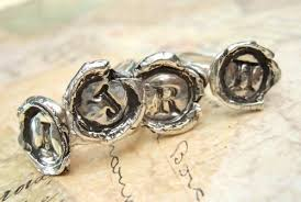 wax seal jewelry silver monogram ring wax seal jewelry sted initial