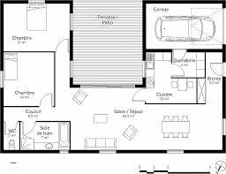 plan maison 3 chambres plain pied garage plan maison plain pied 1 chambre beautiful plan maison plain pied