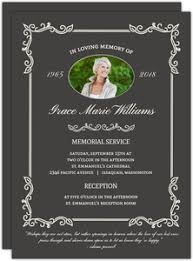 funeral service invitation memorial cards funeral memorial cards