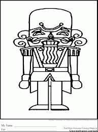 astonishing christmas nutcracker coloring page with nutcracker