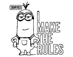 minion i make the rules kevin coloring page wecoloringpage