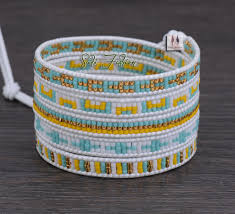 weave wrap bracelet images Exclusive stone coral with selected glass beads wrap bracelets jpg