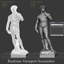 david statue by michelangelo 3d model game ready
