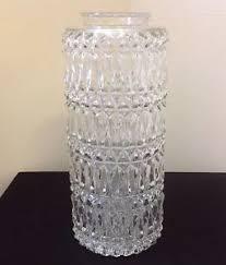 Glass Cylinder Pendant Light Midcentury Cut Glass Cylinder Pendant Lamp Shade Ebay