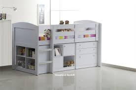 Kids Storage Beds With Desk Neptune Childrens Beds With Storage White Mid Sleeper Bed
