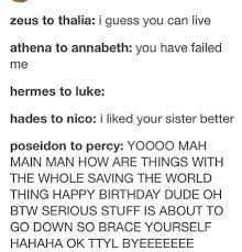 gods talking to their children poseidon is the best dad percy