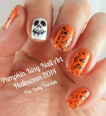 nail art pumpkin king manicure u2013 the daily varnish