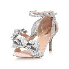 caiden miss kg caiden silver mid heel sandals by miss kg