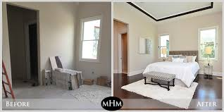 bedroom before and after before and after staging mhm professional staging