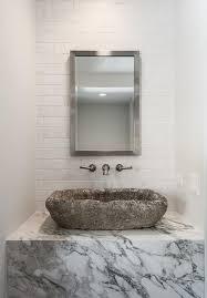 Marble Sink Vanity Marble Sink Vanity With Concrete Sink Transitional Bathroom