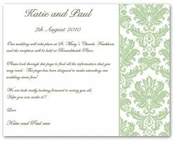 wedding inserts wedding invitation wording information exle 1 contemporary