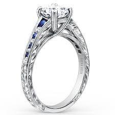 engagement ring sapphire kirk kara stella blue sapphire channel set engagement ring