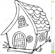 doodle style fairy house stock vector image 74253054