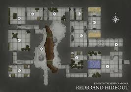 Dungeon Floor Plans by Redbrand Hideout Dungeon Map By Trwolfe13 On Deviantart