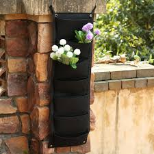 7 pocket new felt wall grow bag garden bag hanging wall planting