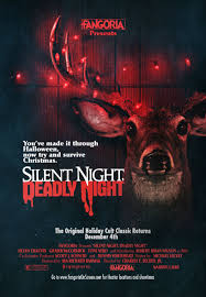 bloody pit of rod silent night deadly night 1984 poster art