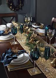 splendid christmas table decorations showing impressive